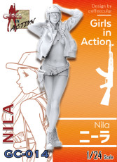 ZLPLA Genuine 1/24 Scale Resin Figure Nila Girls in Action Assembly Model Kit GC-014