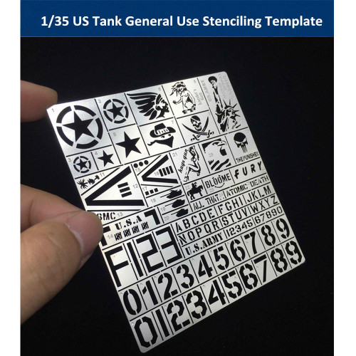 1/35 Scale US Tank General Use Stenciling Template Model Painting Tools AJ0018