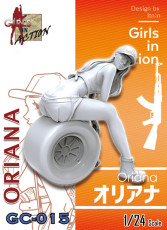 ZLPLA Genuine 1/24 Scale Resin Figure Oriana Girls in Action Assembly Model Kit GC-015