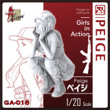 ZLPLA Genuine 1/20 Scale Resin Figure Peige Girls in Action Assembly Model Kit GA-016