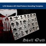 1/35 Scale Modern AFV Skull Pattern Stenciling Template Model Building Tool AJ0040