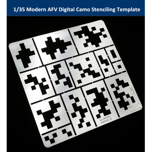 1/35 Scale Modern AFV Digital Camo Stenciling Template Model Painting Tool AJ0013