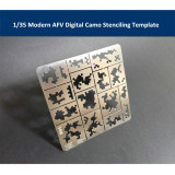 1/35 Scale Modern AFV Digital Camo Stenciling Template Model Building Tools AJ 0014