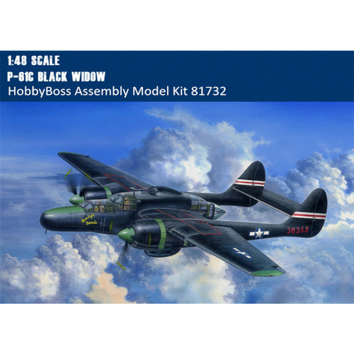HobbyBoss 81732 1/48 Scale P-61C Black Widow Fighter Military Plastic Aircraft Assembly Model Kits