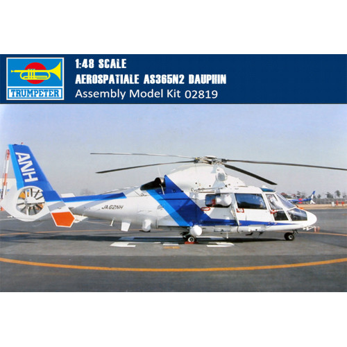 Trumpeter 02819 1/48 Scale Aerospatiale AS365N2 Dauphin Helicopter Plastic Aircraft Assembly Model Kits