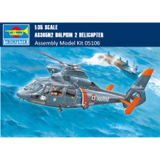 Trumpeter 05106 1/35 Scale AS365N2 Dolphin 2 Helicopter Military Plastic Aircraft Assembly Model Kits