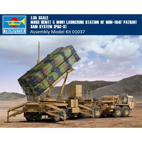 Trumpeter 01037 1/35 Scale M983 HEMTT & MIM-104F Patriot SAM System Military Plastic Assembly Model Kits