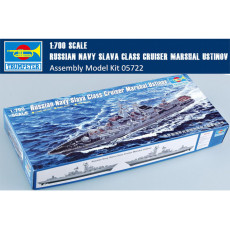 Trumpeter 05722 1/700 Scale Russian Navy Slava Class Cruiser Marshal Ustinov Warship Assembly Model Kit