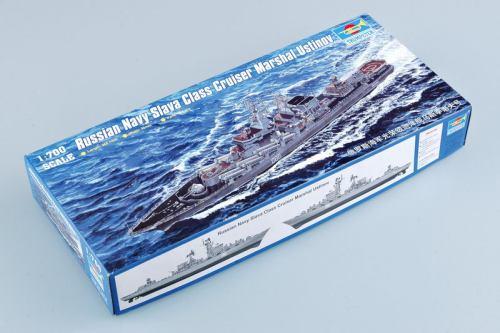 Trumpeter 05722 1/700 Scale Russian Navy Slava Class Cruiser Marshal Ustinov Warship Assembly Model Kit