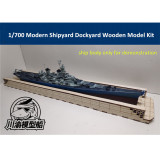 1/700 Scale Modern Shipyard Dockyard Diorama Platform DIY Scene Wooden Assembly Model Kit TMW00008