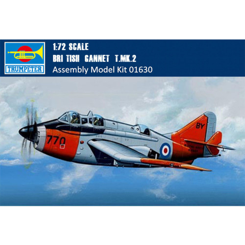 """Trumpeter 01630 1/72 Scale British """"Gannet"""" T.MK.2 Military Plastic Aircraft Assembly Model Kits"""