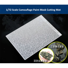 Camouflage Paint Mask Cutting Mat Model Building Tool for 1/72 Scale AFV Model AJ0088