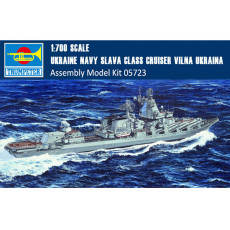 Trumpeter 05723 1/700 Scale Russian Navy Slava Class Cruiser Vilna Ukraina Battleship Assembly Model Kits