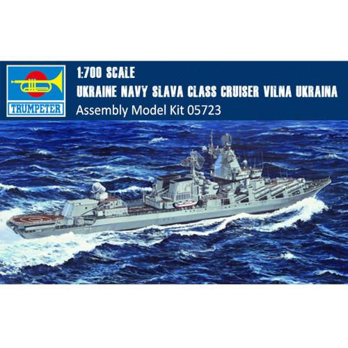 Trumpeter 05723 1/700 Scale Russian Navy Slava Class Cruiser Vilna Ukraina Battleship Assembly Model Kits