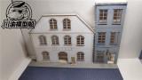 1/35 Scale European Urban Street Scene Diorama DIY Wooden Assembly Model Kit TMW00009
