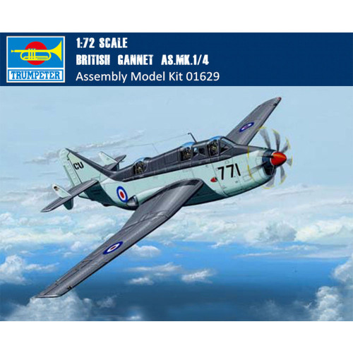 """Trumpeter 01629 1/72 Scale British """"Gannet"""" AS.MK.1/4 Military Aircraft Assembly Model Building Kits"""