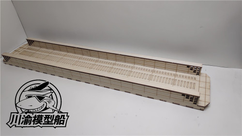 1/700 Scale Modern Shipyard Dockyard Diorama Platform DIY Scene Wooden Assembly Model Kit TMW00008