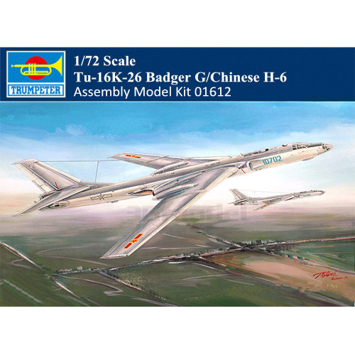 Trumpeter 01612 1/72 Scale Tu-16K-26 Badger G/Chinese H-6 Aircraft Military Plastic Assembly Model Kit