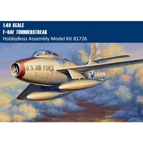 HobbyBoss 81726 1/48 Scale F-84F Thunderstreak Fighter-Bomber Military Plastic Aircraft Assembly Model Kits