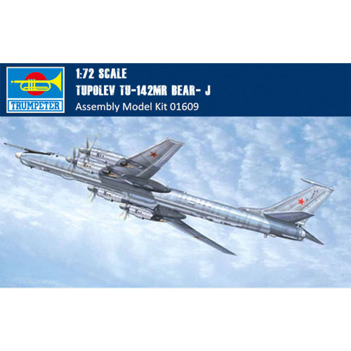 Trumpeter 01609 1/72 Scale Tupolev Tu-142MR Bear- J Fighter Military Plastic Aircraft Assembly Model Kits