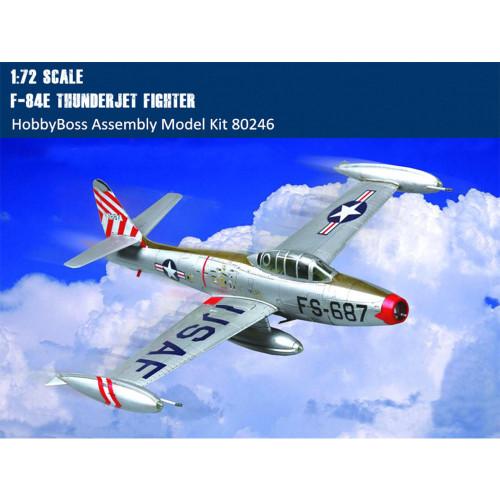 HobbyBoss 80246 1/72 Scale F-84E Thunderjet Fighter Military Plastic Aircraft Assembly Model Kits