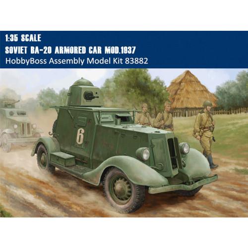 HobbyBoss 83882 1/35 Scale Soviet BA-20 Armored Car Mod1937 Military Plastic Assembly Model Kit