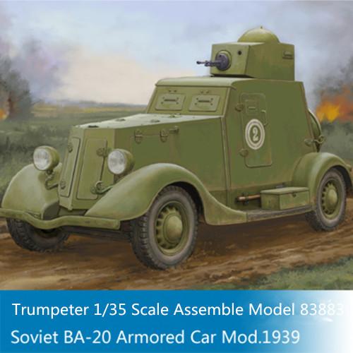 HobbyBoss 83883 1/35 Scale Soviet BA-20 Armored Car Mod1939 Military Plastic Assembly Model Kit