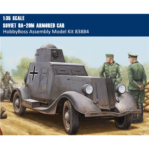 HobbyBoss 83884 1/35 Scale Soviet BA-20M Armored Car Assembly Military Plastic Assembly Model Kit