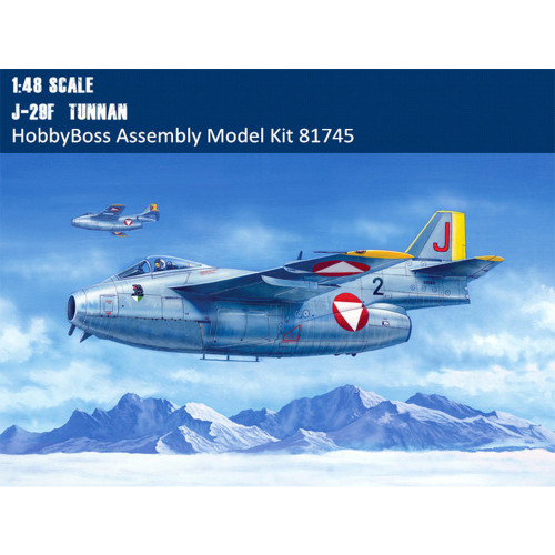 HobbyBoss 81745 1/48 Scale Swedish J-29F Tunnan Fighter Plastic Aircraft Assembly Model Kit