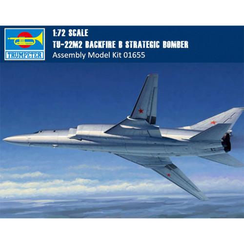 Trumpeter 01655 1/72 Scale Tu-22M2 Backfire B Strategic Bomber Military Plastic Aircraft Assembly Model Kit
