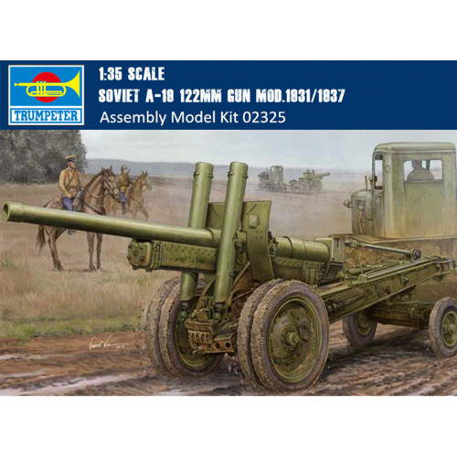Trumpeter 02325 1/35 Scale Soviet A-19 122mm Gun Mod.1931/1937 Military Plastic Assembly Model Kits