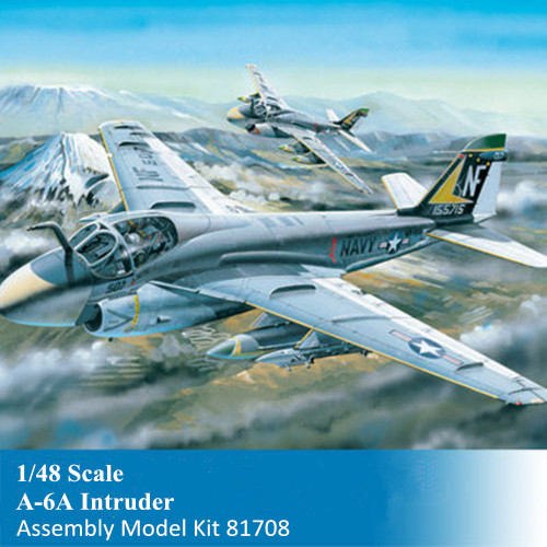 HobbyBoss 81708 1/48 Scale A-6A Intruder Military Plastic Aircraft Assembly Model Building Kits