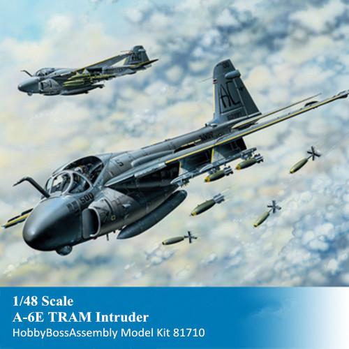 HobbyBoss 81710 1/48 Scale A-6E TRAM Intruder Military Plastic Aircraft Assembly Model Kit