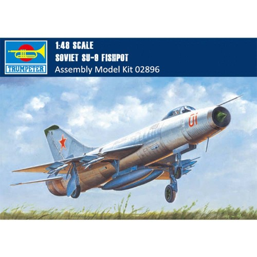 Trumpeter 02896 1/48 Scale Soviet Su-9 Fishpot Military Plastic Aircraft Assembly Model Building Kits