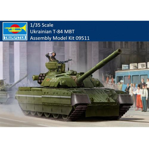 Trumpeter 09511 1/35 Scale Ukrainian T-84 Main Battle Tank Plastic Military Assembly Model Building Kits