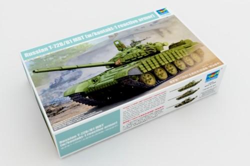 Trumpeter 05599 1/35 Scale Russian T-72B/B1 MBT (w/kontakt-1 reactive armor) Military Plastic Assembly Model Kits