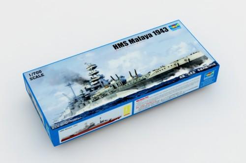 Trumpeter 05799 1/700 Scale HMS Malaya 1943 Battleship Plastic Military Assembly Model Kits