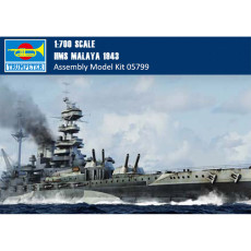 Trumpeter 05799 1/700 Scale HMS Malaya 1943 Battleship Plastic Military Assembly Model Kits
