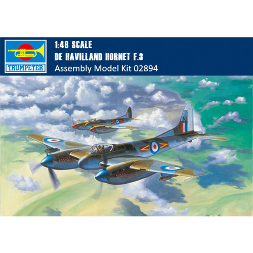 Trumpeter 02894 1/48 Scale De Havilland Hornet F.3 Fighter Military Plastic Aircraft Assembly Model Kits