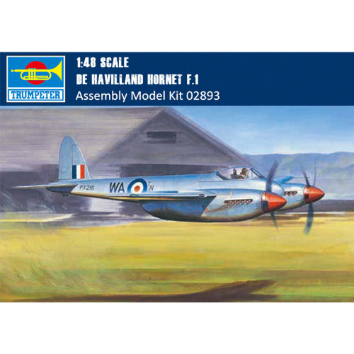 Trumpeter 02893 1/48 Scale De Havilland Hornet F.1 Fighter Military Plastic Aircraft Assembly Model Kits
