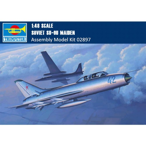 Trumpeter 02897 1/48 Scale Soviet Su-9U Maiden Military Plastic Aircraft Assembly Model Building Kits