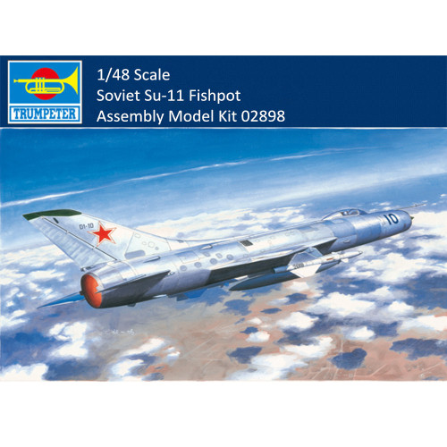 Trumpeter 02898 1/48 Scale Soviet Su-11 Fishpot Military Plastic Aircraft Assembly Model Building Kits