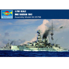 Trumpeter 05798 1/700 Scale HMS Barham 1941 Battleship Military Plastic Assembly Model Building Kits