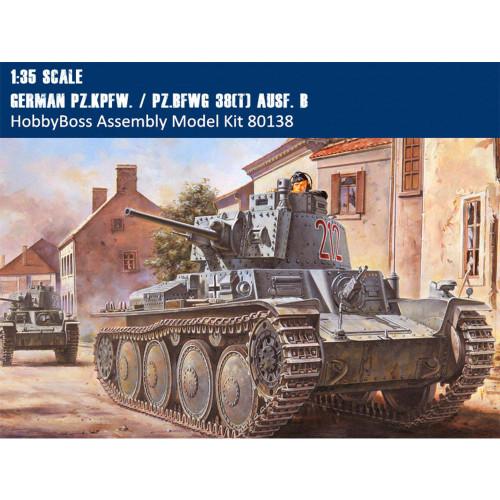HobbyBoss 80138 1/35 Scale German Pz.Kpfw. / Pz.BfWg 38(t) Ausf. B Military Plastic Assembly Model Kit