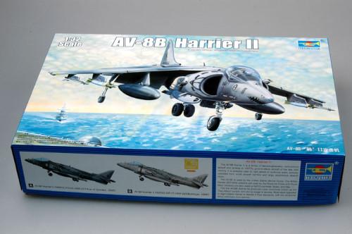 Trumpeter 02229 1/32 Scale AV-8B Harrier II Fighter Plastic Military Aircraft Assembly Model Kit