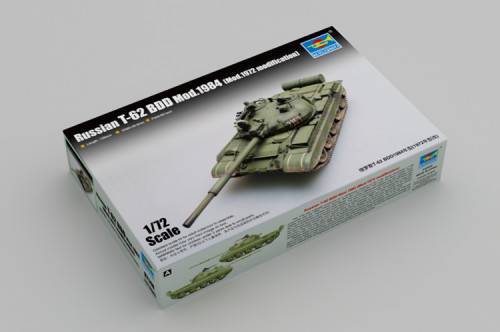Trumpeter 07148 1/72 Scale Russian T-62 BDD Mod.1984 (Mod.1972 modification) Military Plastic Assembly Model Kit