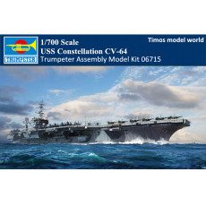 Trumpeter 06715 1/700 Scale USS Constellation CV-64 Aircraft Carrier Military Plastic Assembly Model Kit