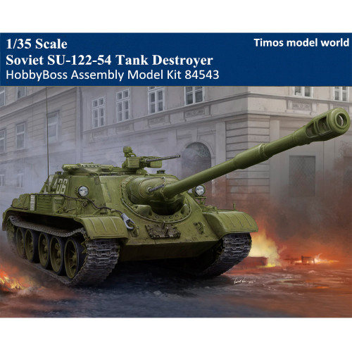 HobbyBoss 84543 1/35 Scale Soviet SU-122-54 Tank Destroyer Military Plastic Assembly Model Kit
