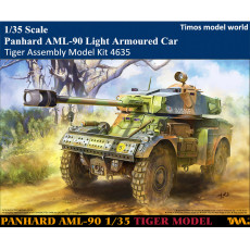 Tiger 4635 1/35 Scale Panhard AML-90 Light Armoured Car Military Plastic Assembly Model Kit
