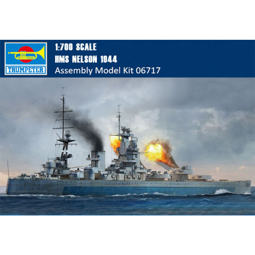 Trumpeter 06717 1/700 Scale HMS Nelson 1944 Warship Military Plastic Assembly Model Kit